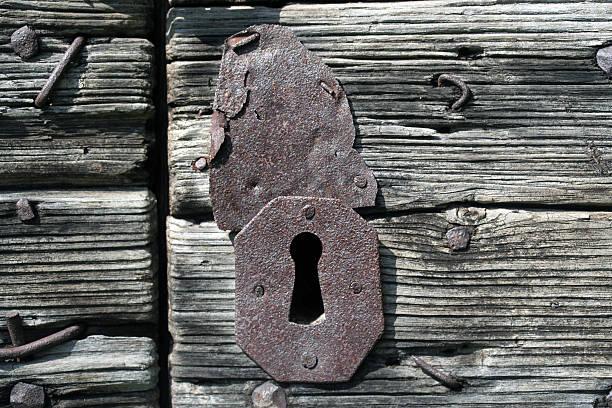 in einem alten Schlüsselloch Eingang – Foto