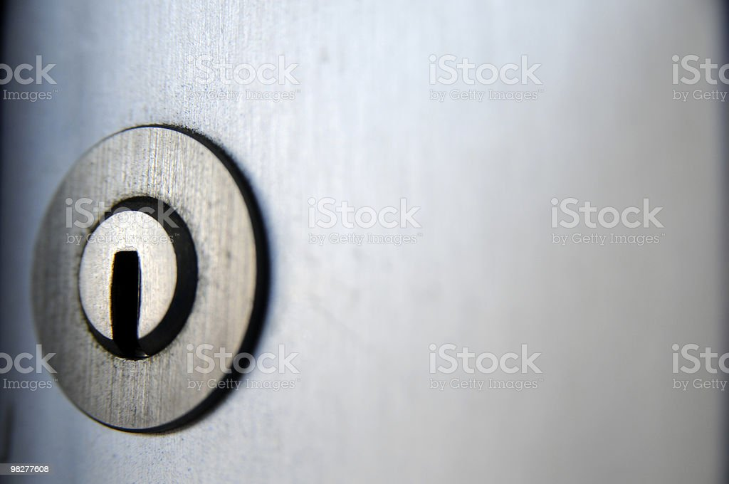 keyhole lock with copy space royalty-free stock photo