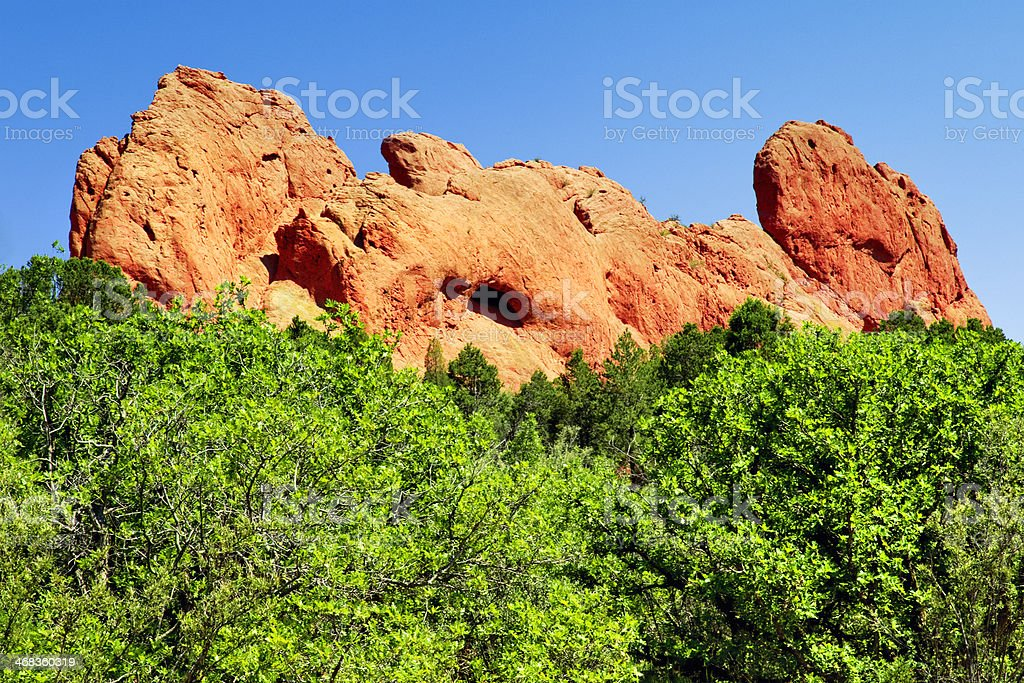Keyhole Window - Garden of the Gods royalty-free stock photo