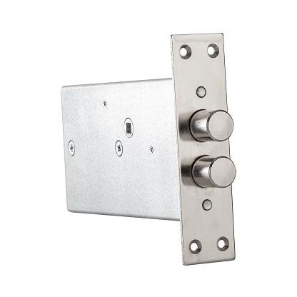 Metal electronic keyless door lock isolated on white background
