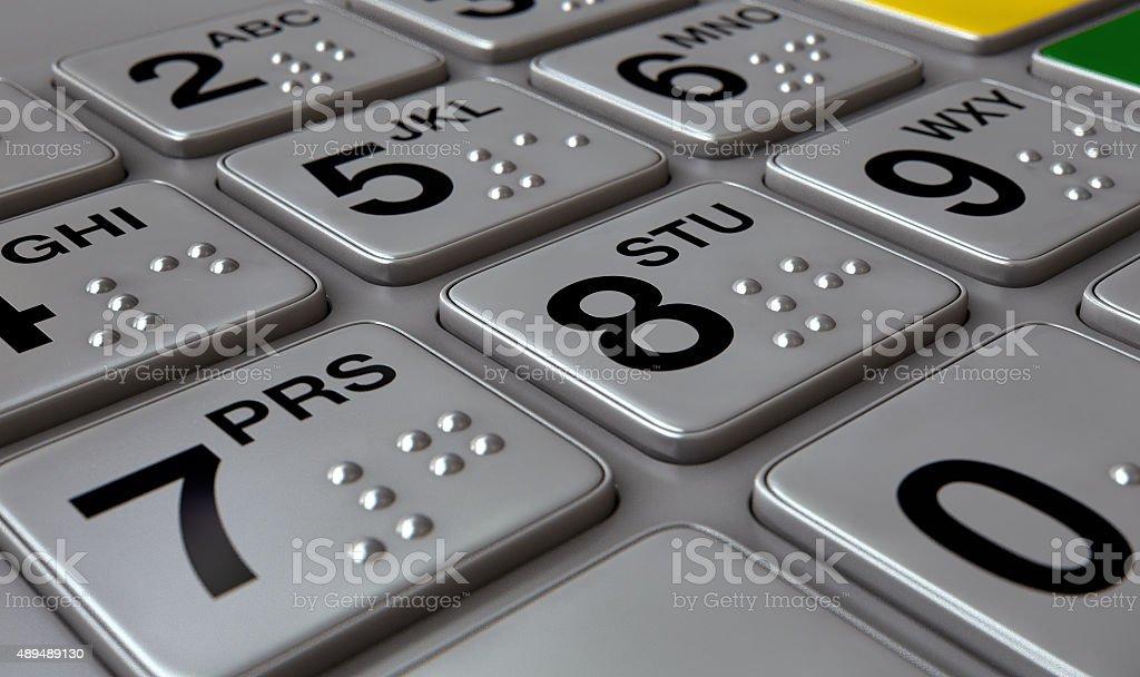 ATM Keypad Closeup stock photo