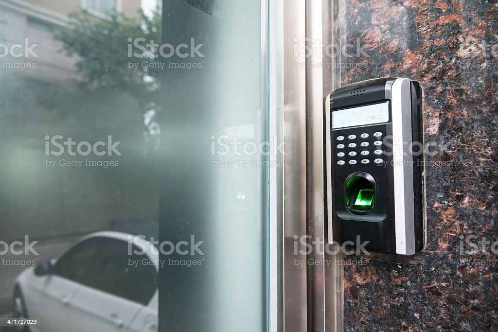 Keypad for access control stock photo