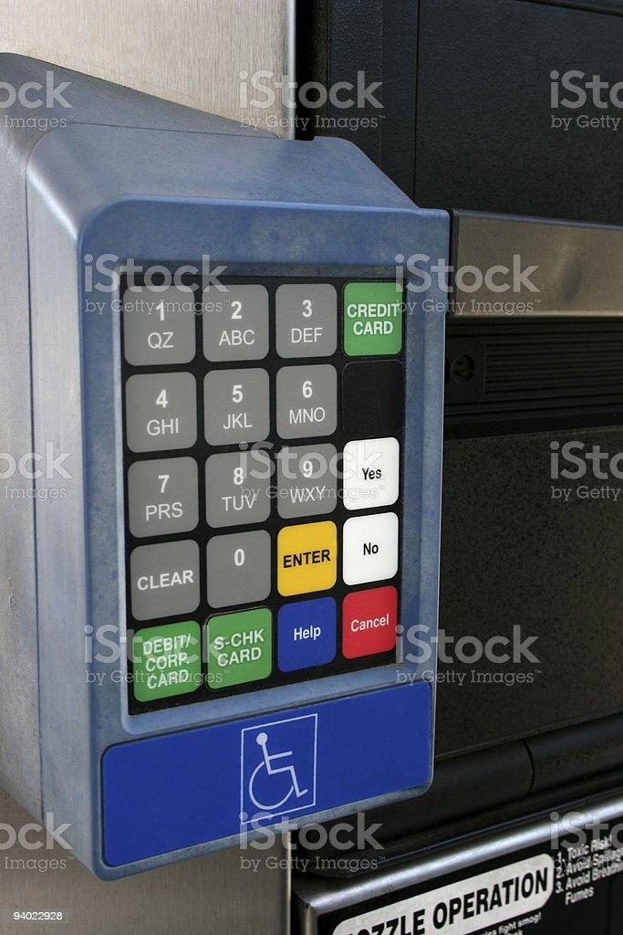 Keypad for handicap access royalty-free stock photo