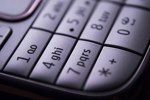 Keypad of a Classic Mobile Phone stock photo