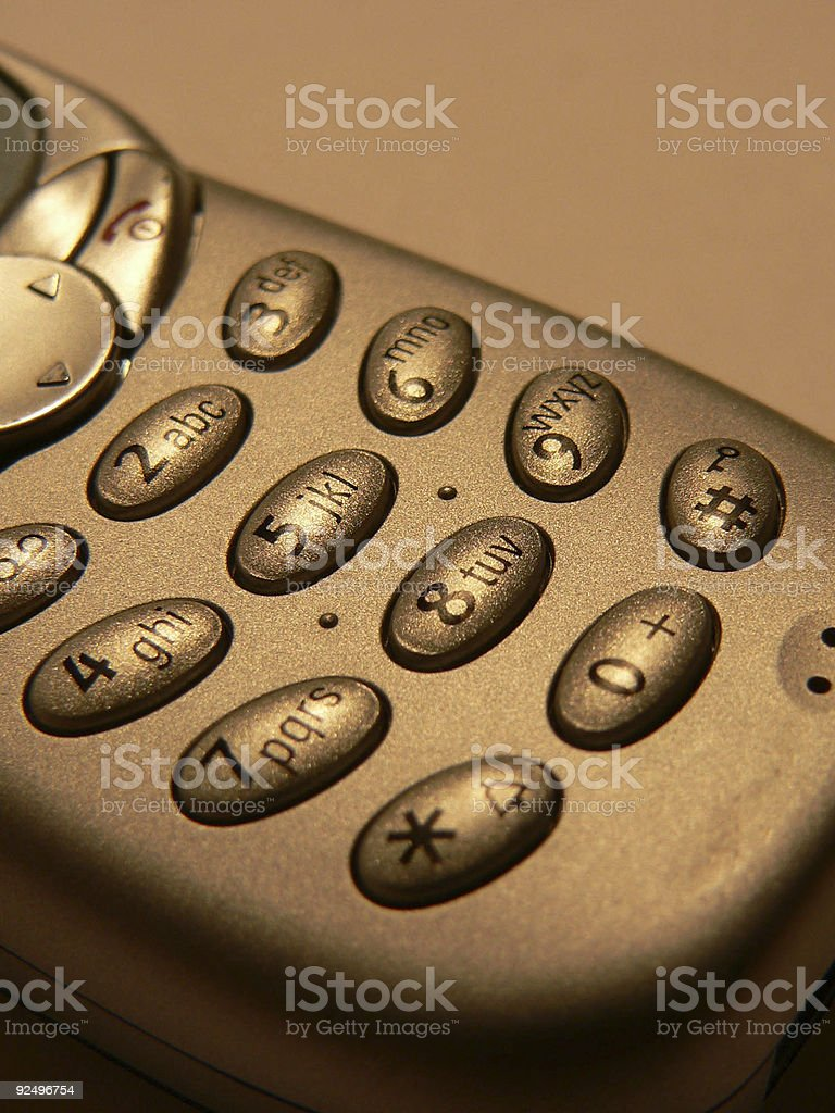 Keypad of a mobile phone royalty-free stock photo