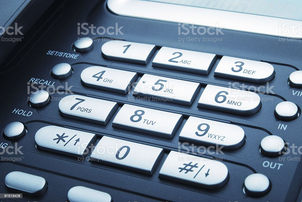 Keypad of a Modern Office Phone royalty-free stock photo