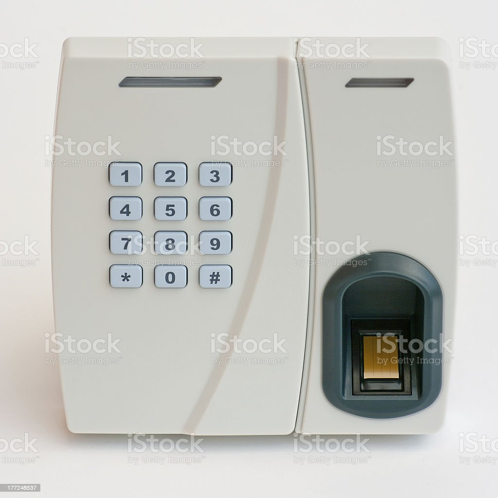 Keypad of the security system royalty-free stock photo