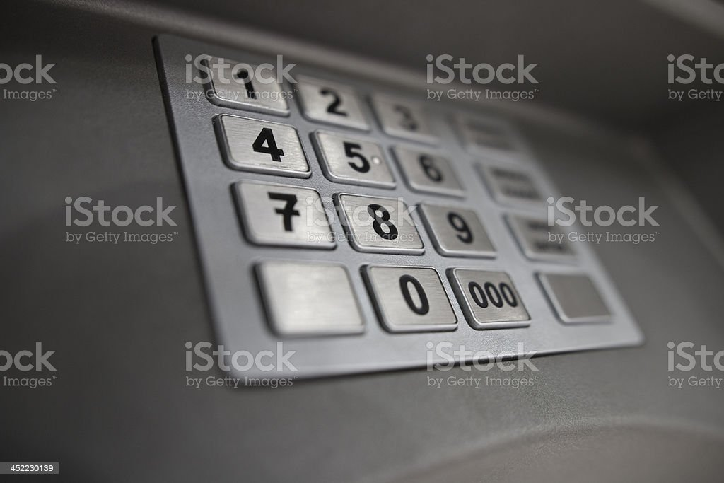 ATM keypad royalty-free stock photo