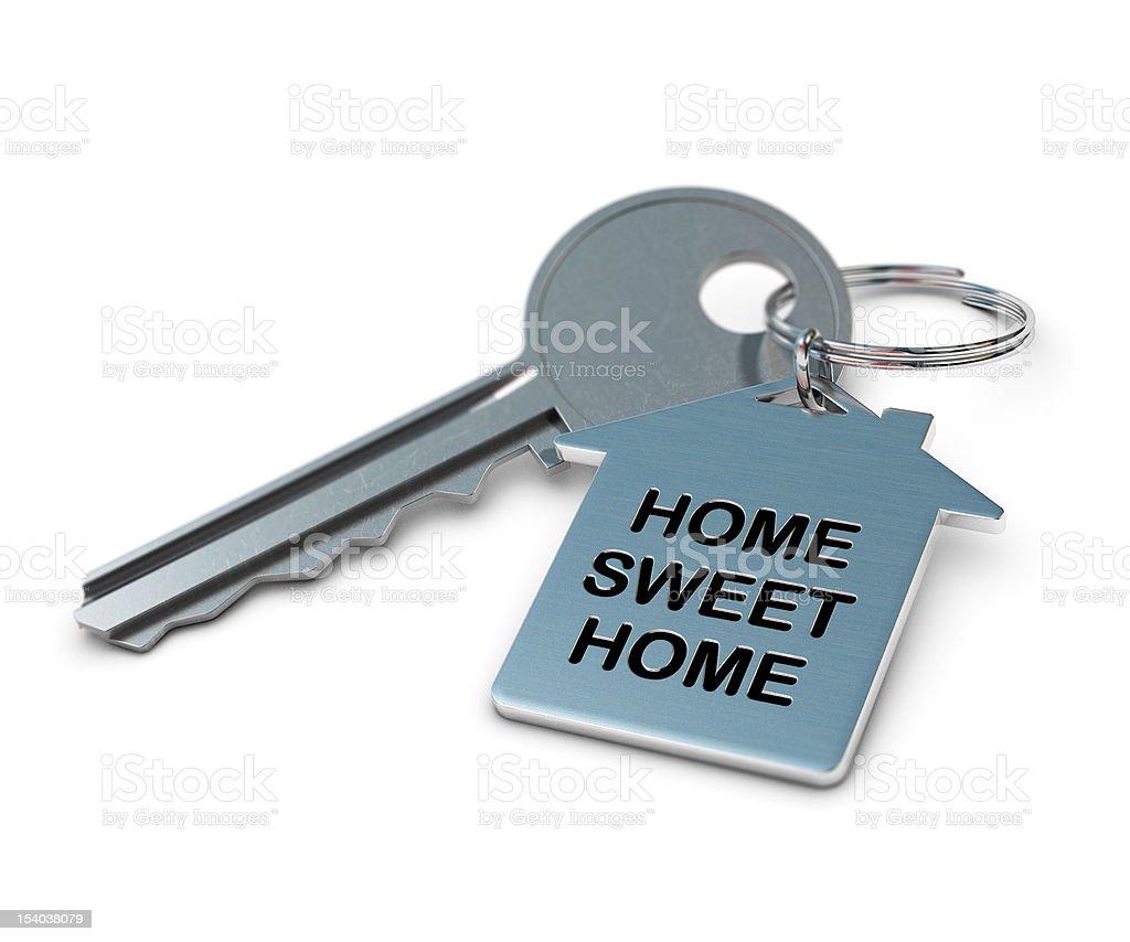 keyring home sweet stock photo