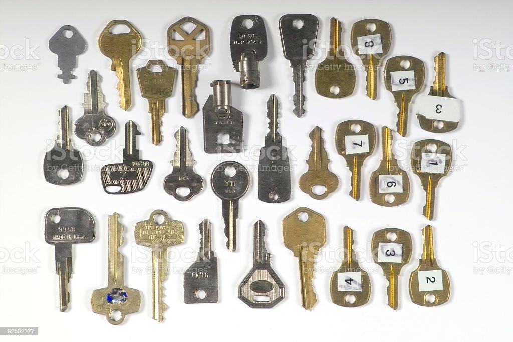 Keys 30 Different royalty-free stock photo