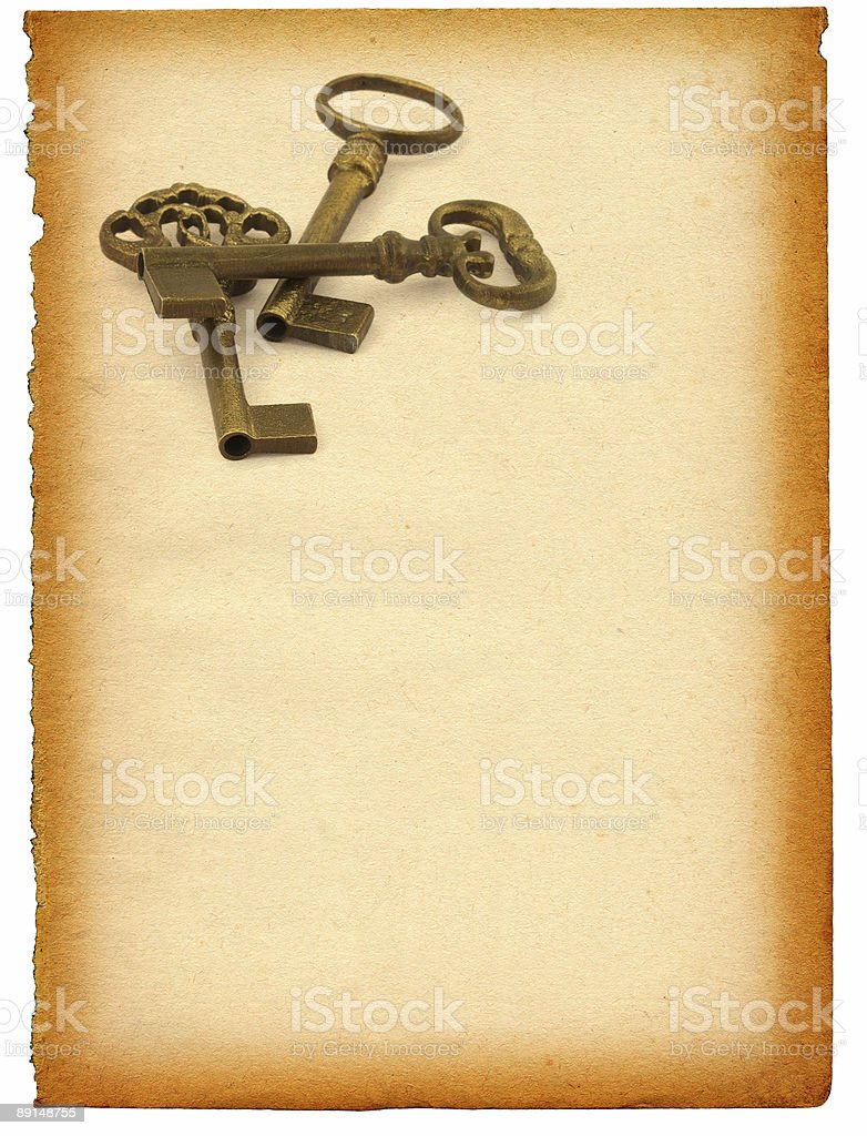 keys against paper royalty-free stock photo