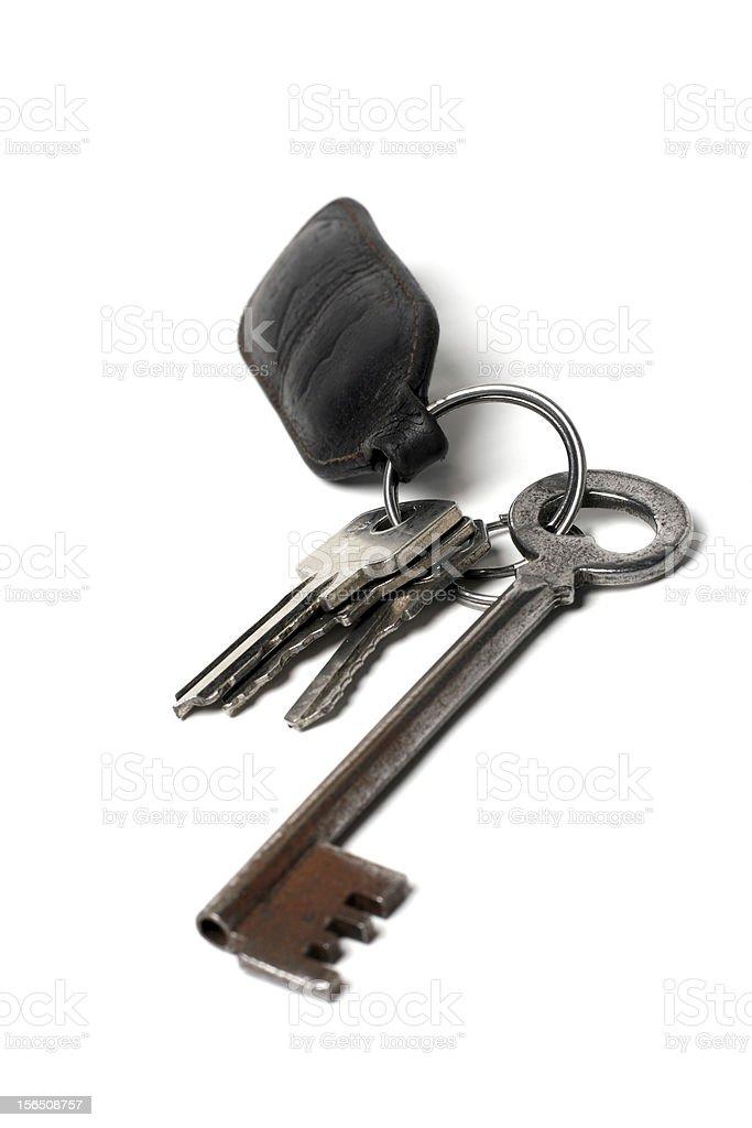 Keys and keychain royalty-free stock photo