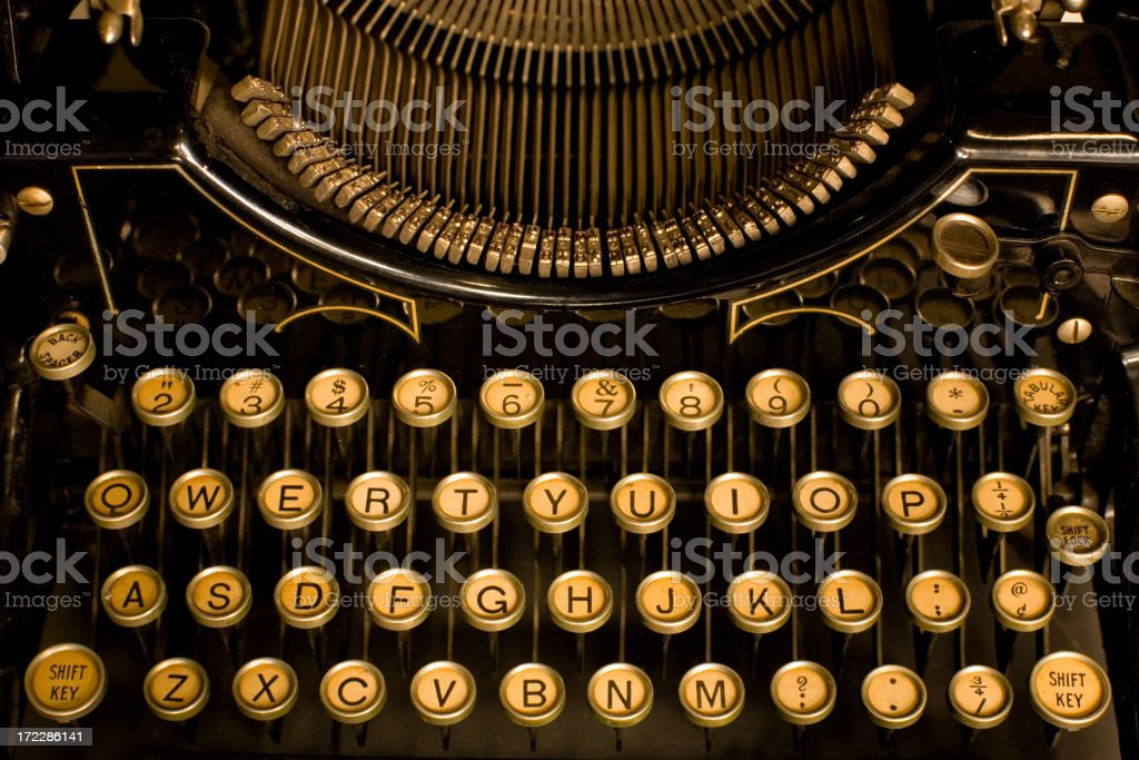 Keys And Letters royalty-free stock photo