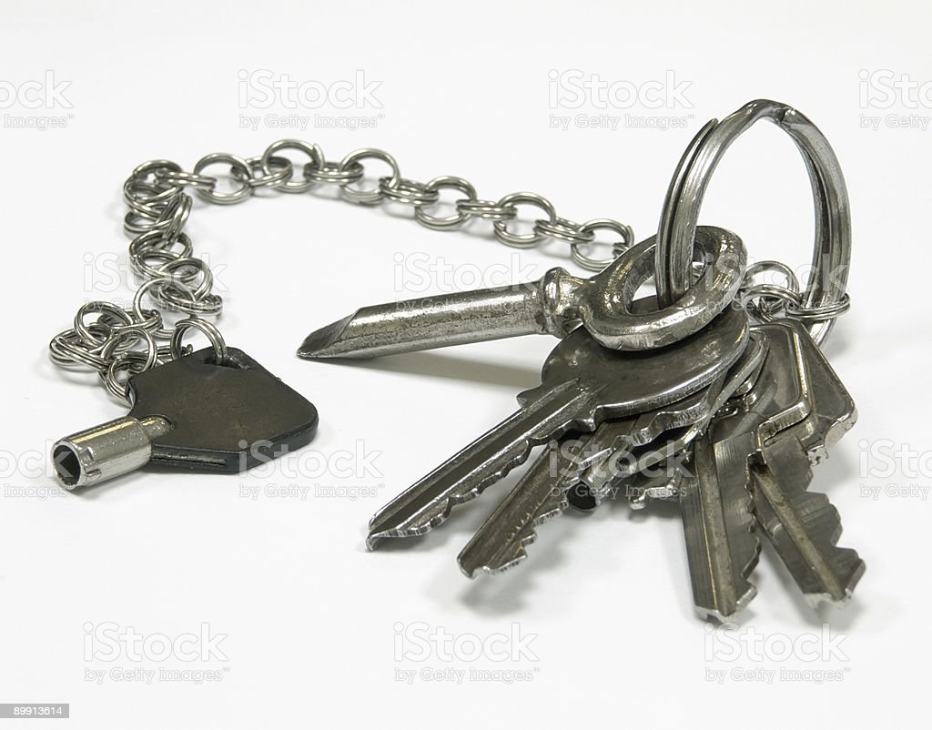 Keys from an old apartment royalty-free stock photo