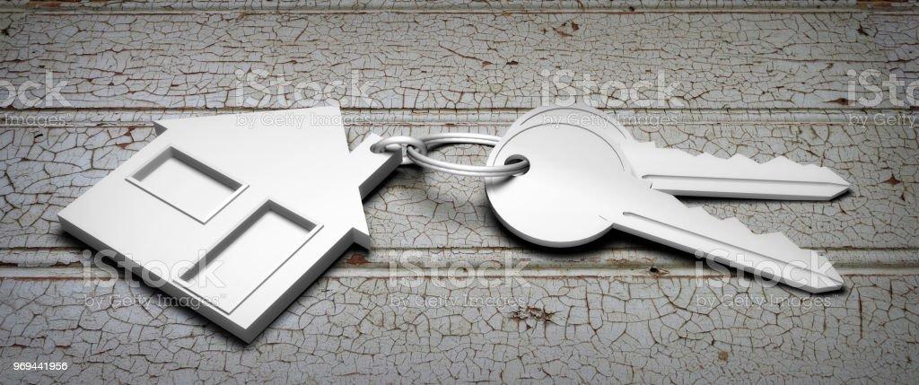 keys house 3D stock photo