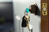 istock keys in the door 477684515