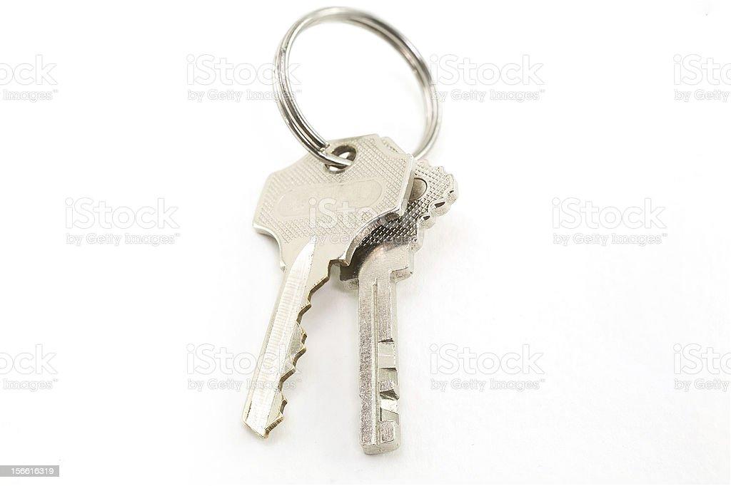 keys isolated on white background royalty-free stock photo