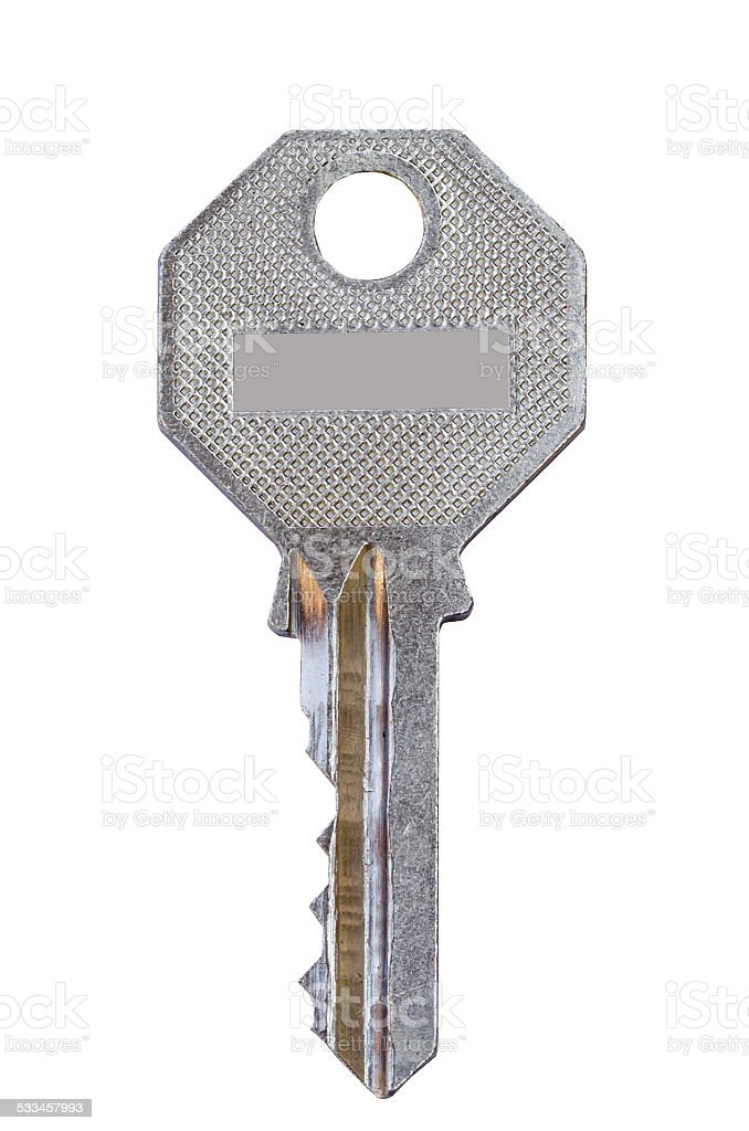 keys isolated on white background stock photo