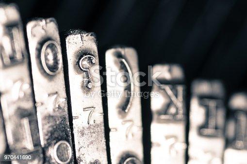 istock Keys of a vintage typewriter 970441690