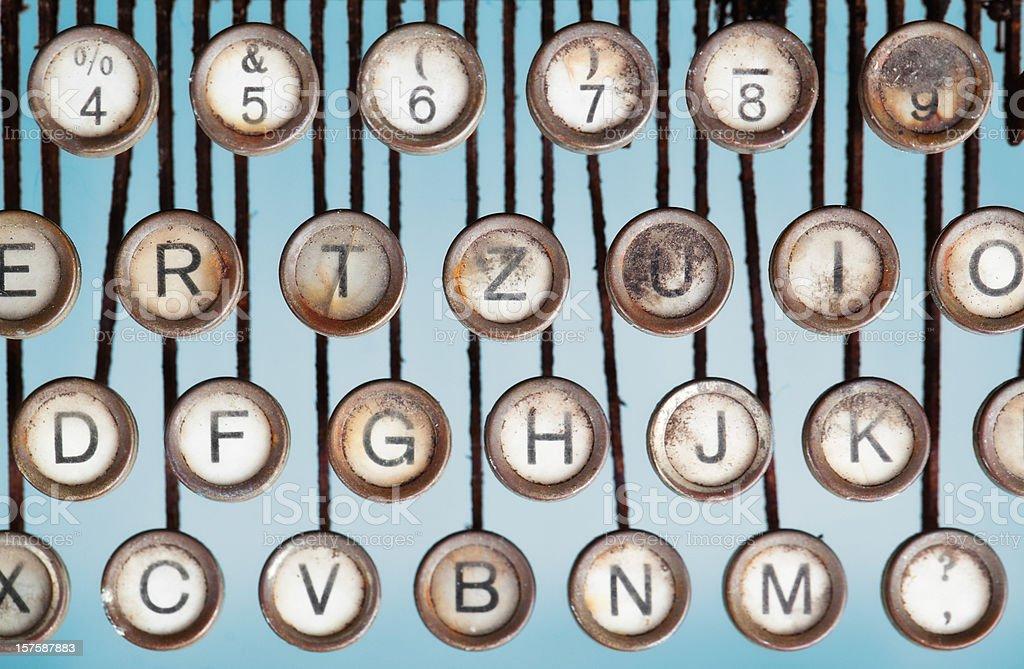 Keys of an old Typewriter royalty-free stock photo
