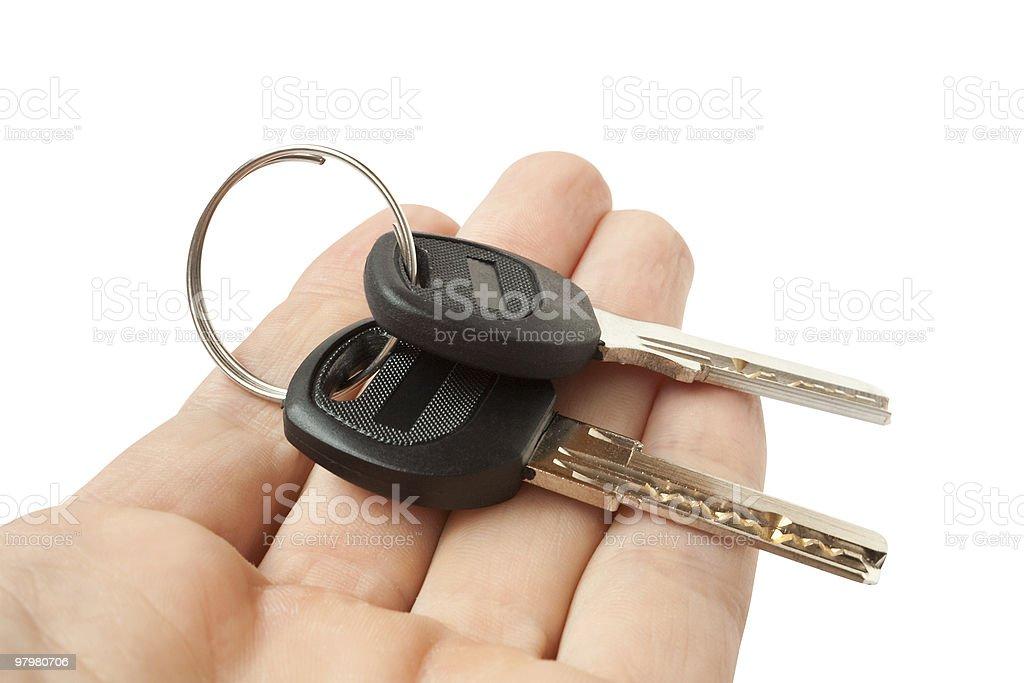 keys on a palm royalty-free stock photo