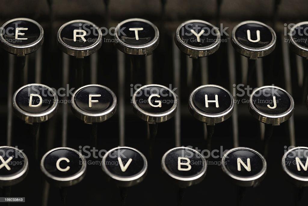 Keys on an old typewriter royalty-free stock photo