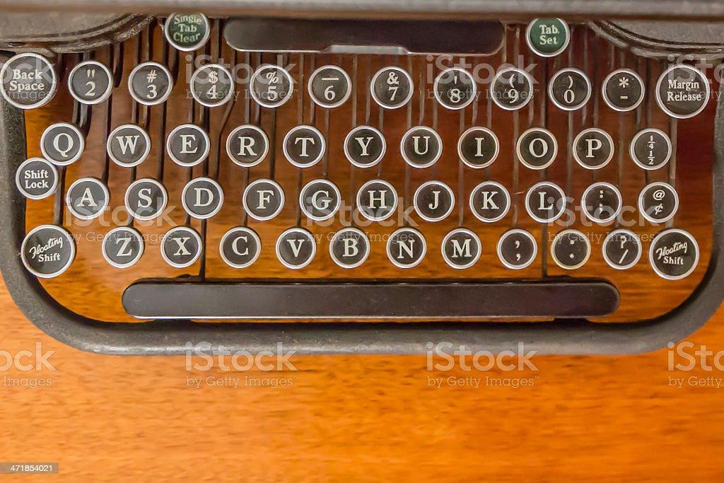 Keys on antique typewriter royalty-free stock photo