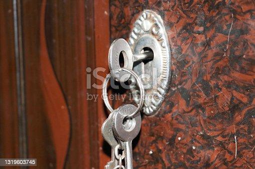 istock Keys on lock 1319603745
