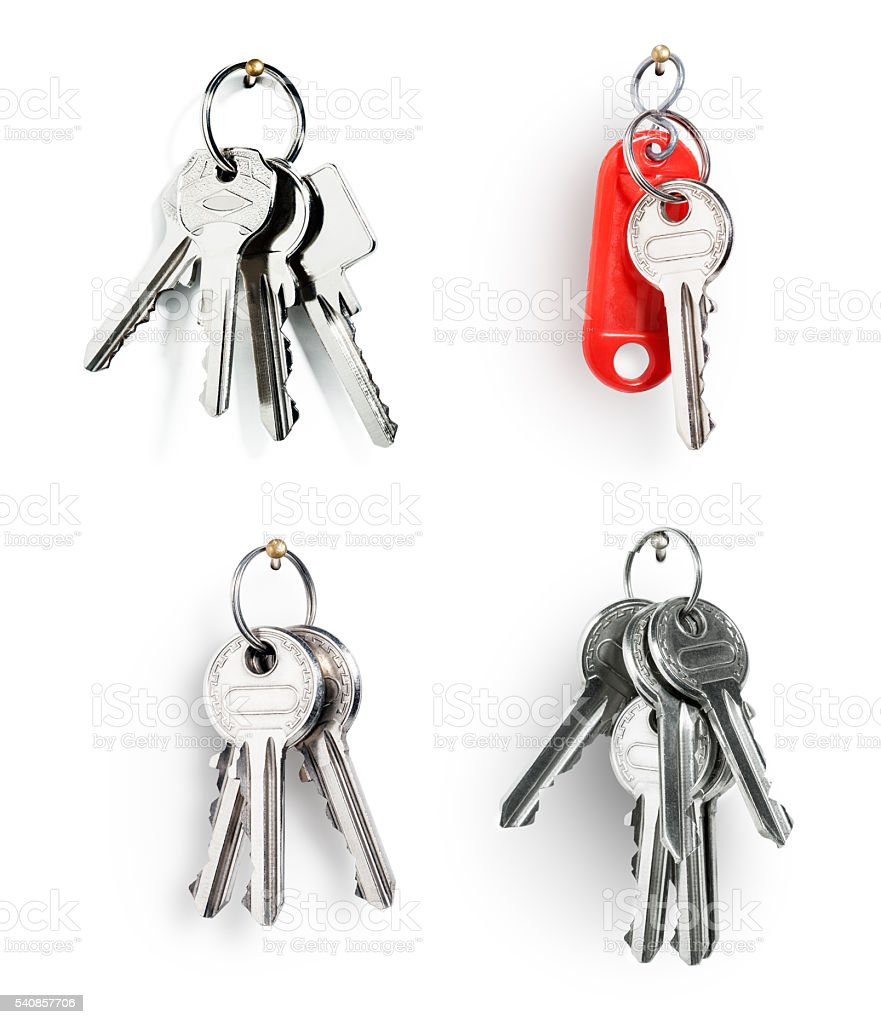 Keys on ring stock photo