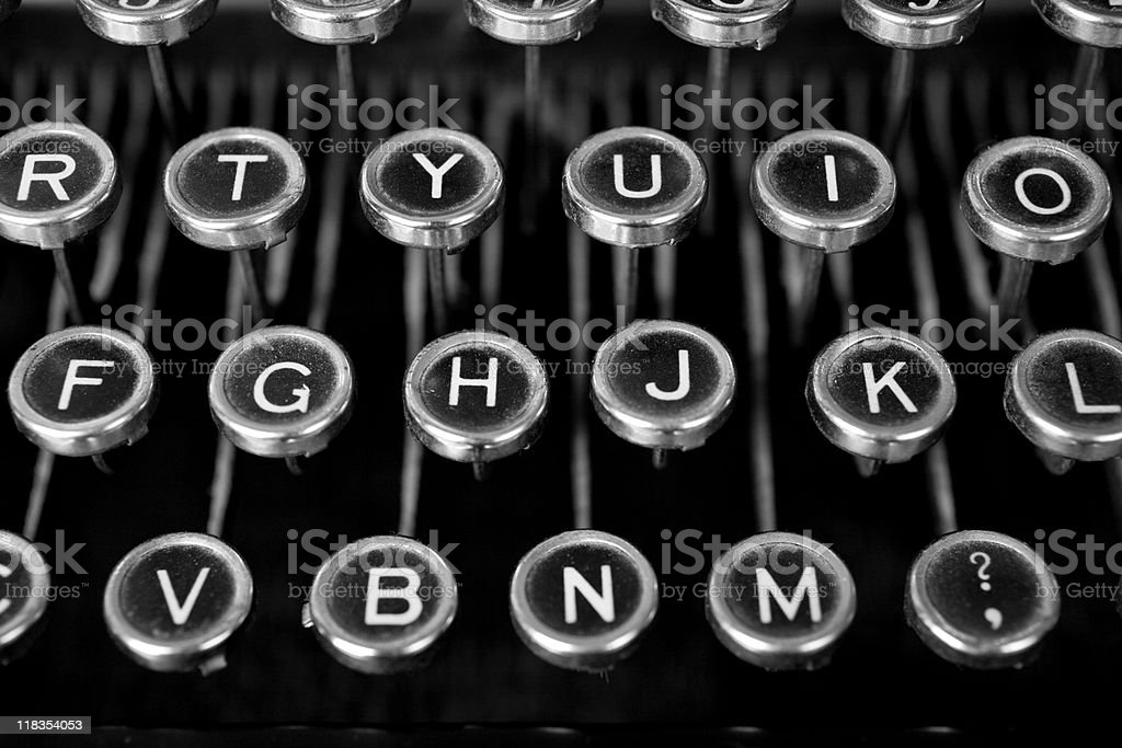 BW Keys royalty-free stock photo