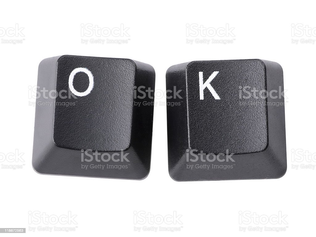 OK keys stock photo