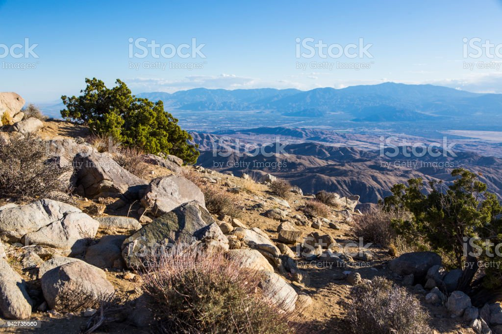 Keys View In Joshua Tree National Park Stock Photo - Download Image