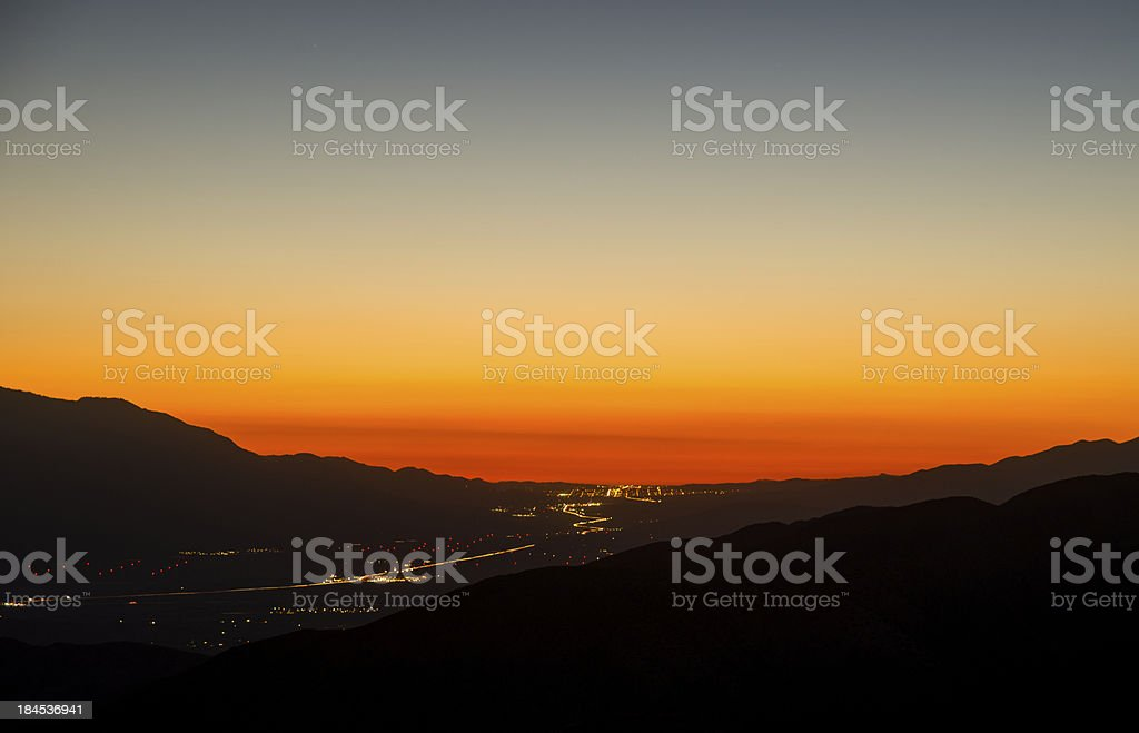 Key's View Sunset stock photo