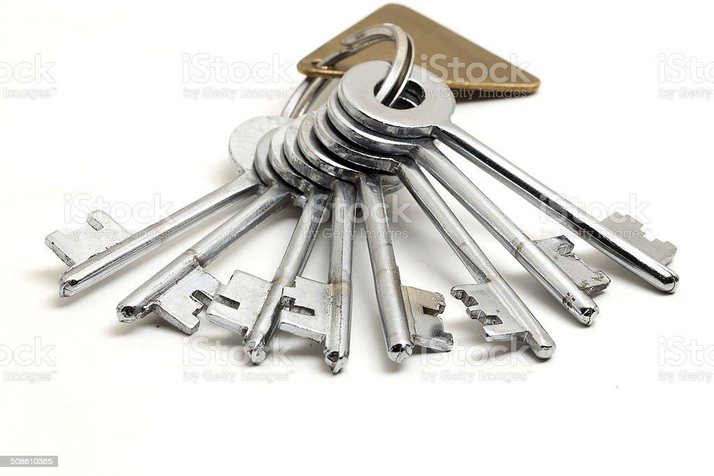 keys with a keychain stock photo