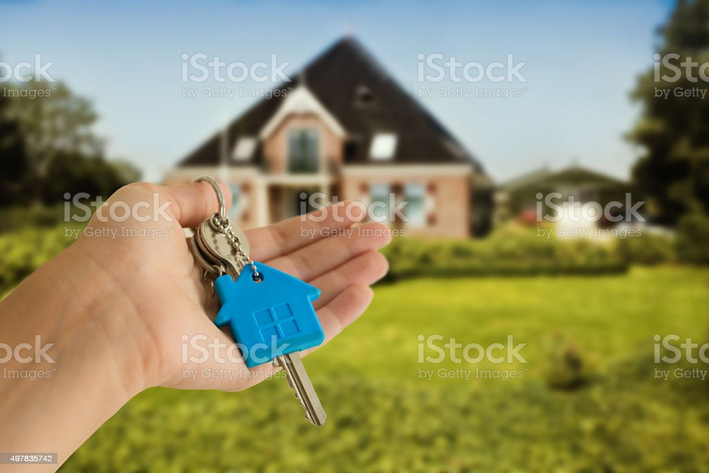 keys with house concept stock photo