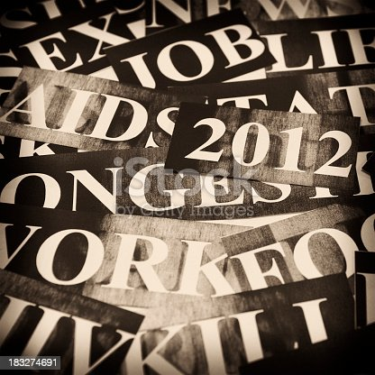 istock keyword headlines - new year concept in sepia monochrome 183274691