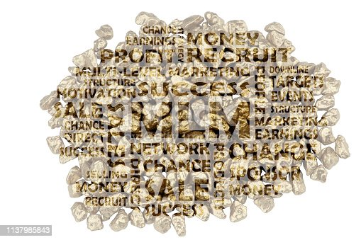 istock MLM keywords embedded on a close-up of golden split stones 1137985843