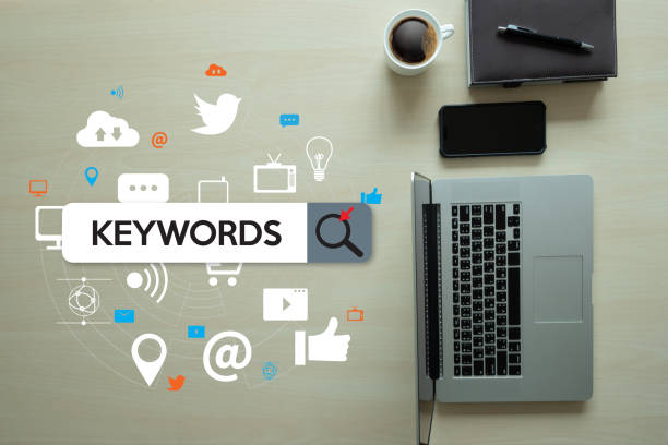 keywords research communication  research, on-page optimization, seo - dictionary stock pictures, royalty-free photos & images