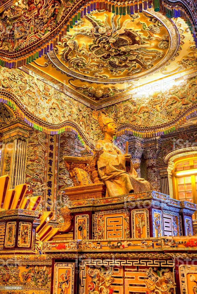 Khai Dinh Emperor's Mausoleum, Hue, Vietnam stock photo