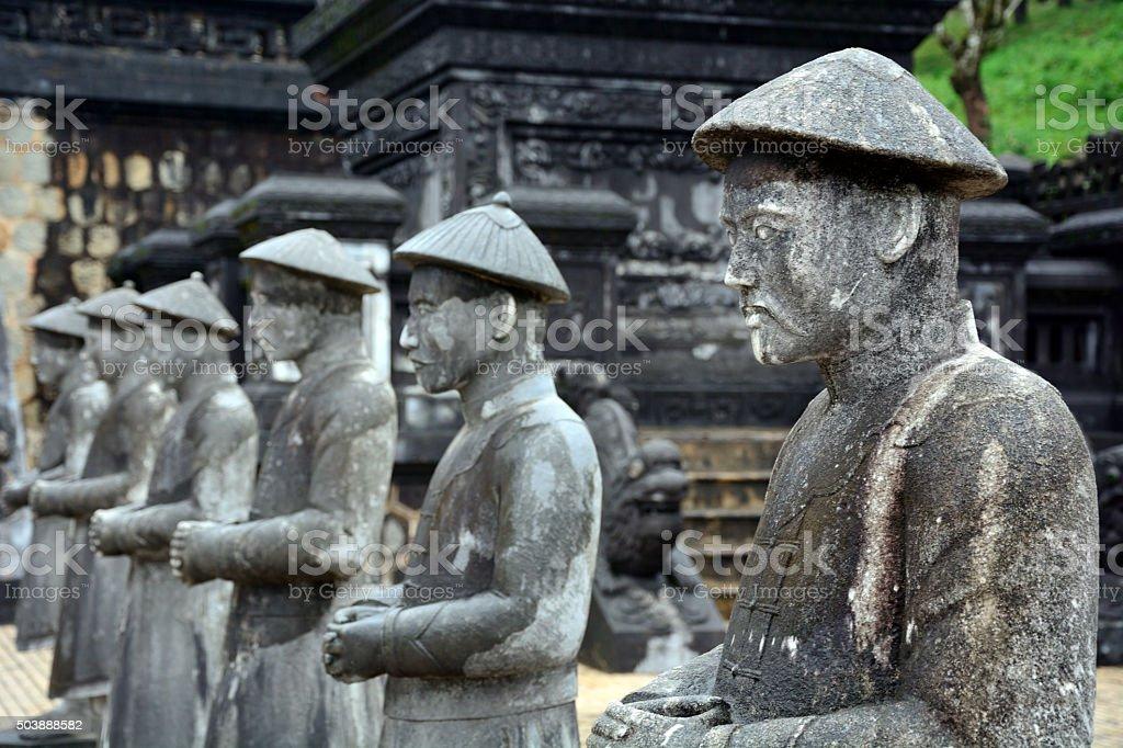 Khai Dinh Tomb, Vietnam stock photo
