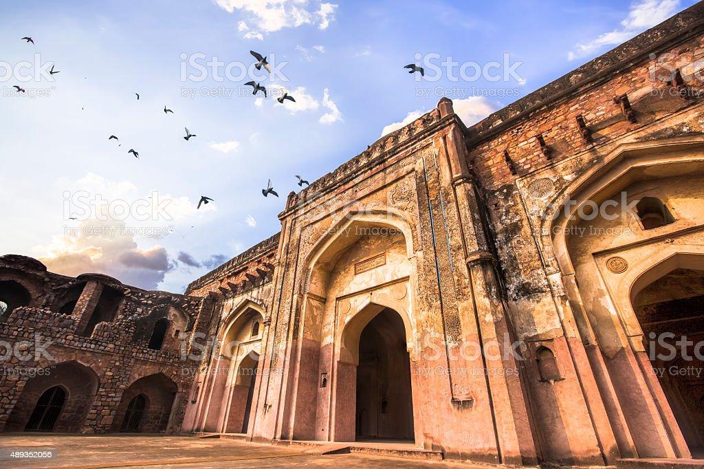 Khairul Manzil Masjid at Purana Qila, Delhi, India - CNGLTRV1109 stock photo
