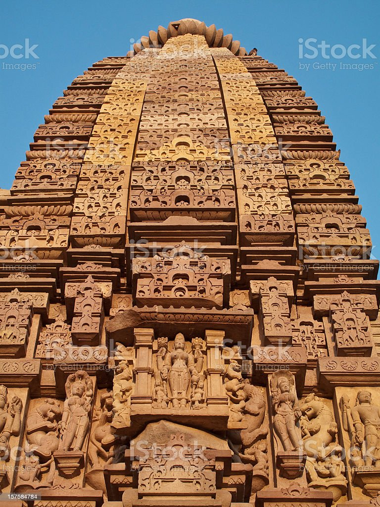 Khajuraho, India Temple royalty-free stock photo