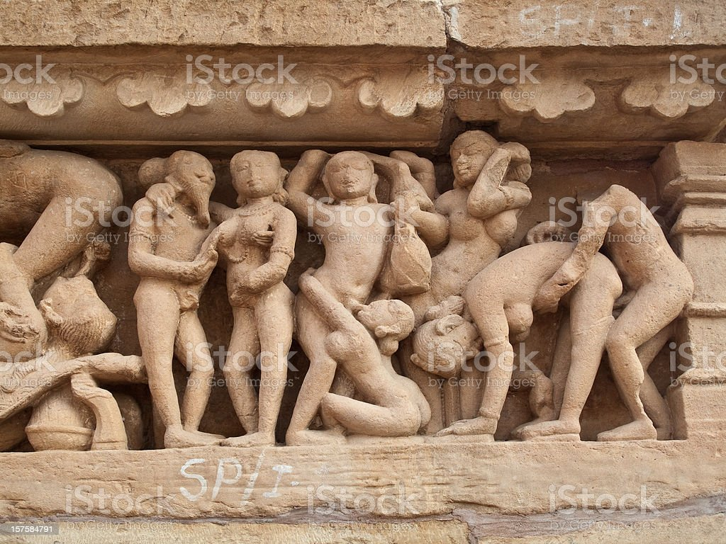 Khajuraho, India Temple stock photo