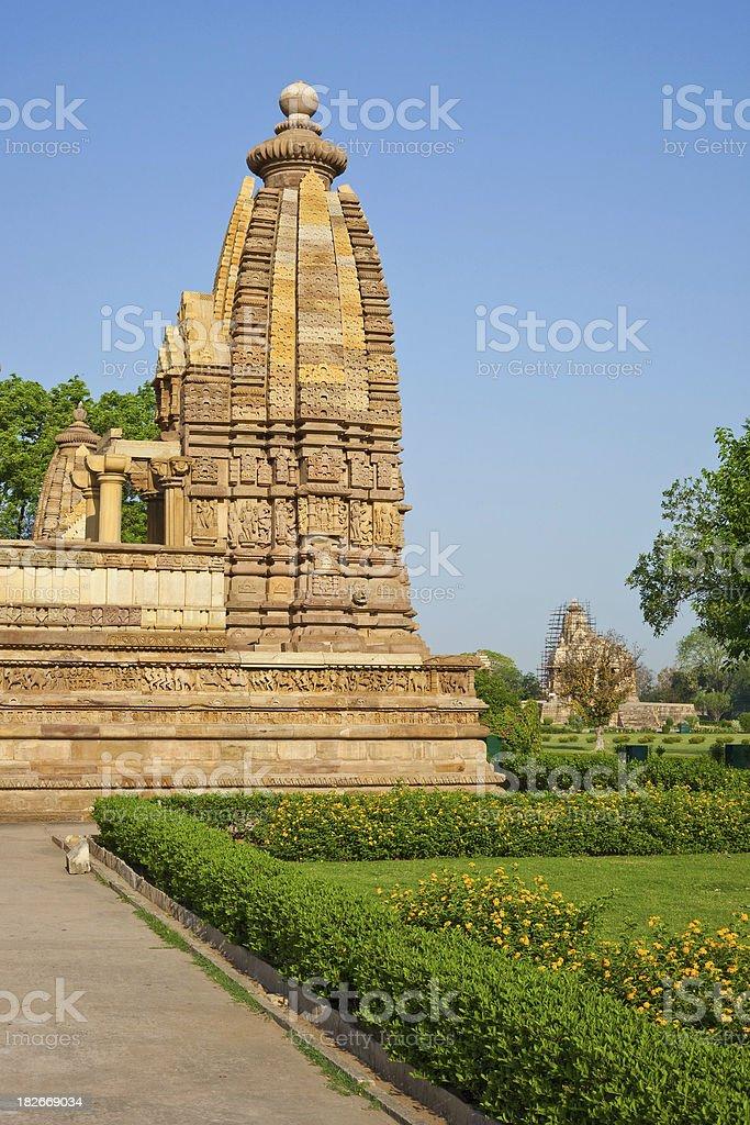 Khajuraho, India Temple stock photo