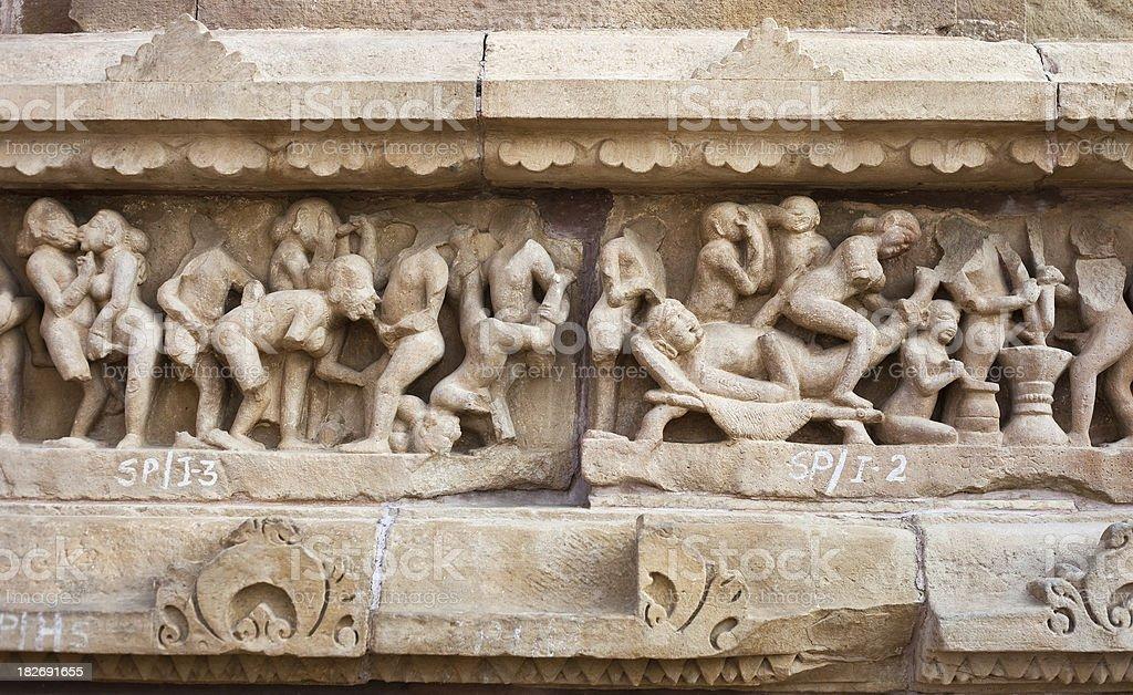 Khajuraho, India Temple royalty-free stock photo