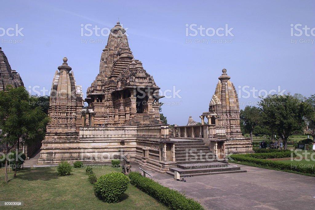 Khajuraho Temples - India royalty-free stock photo