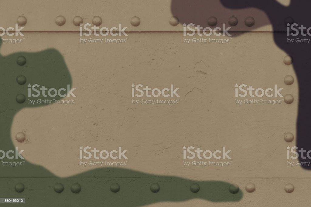 Khaki colored army background stock photo