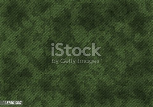 A military khaki camouflage pattern. Art illustration