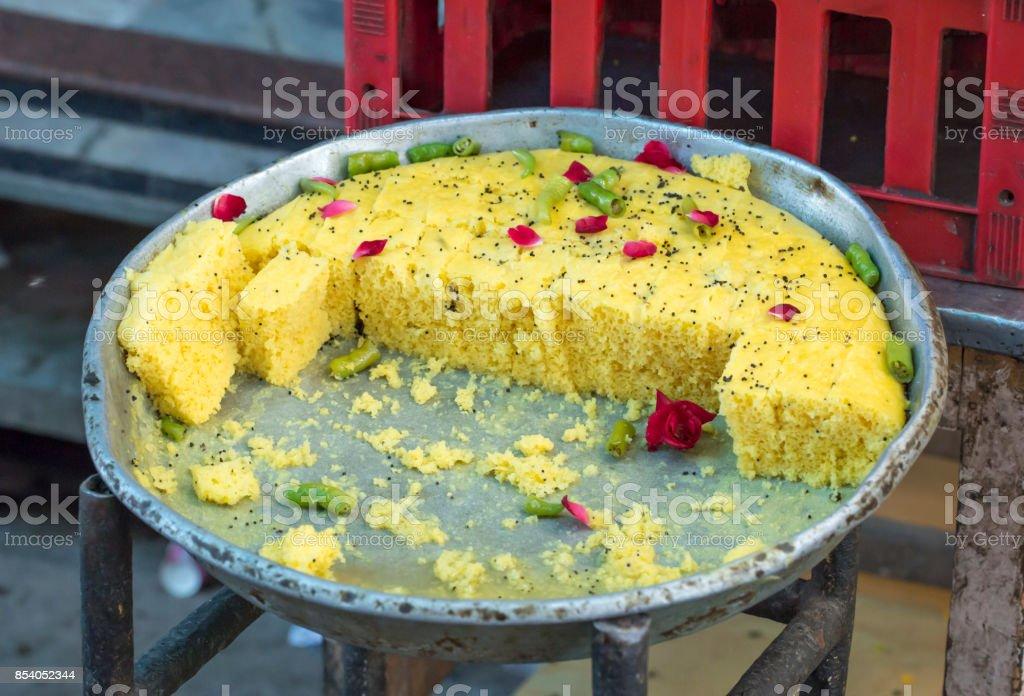 Khaman Dhokala stock photo