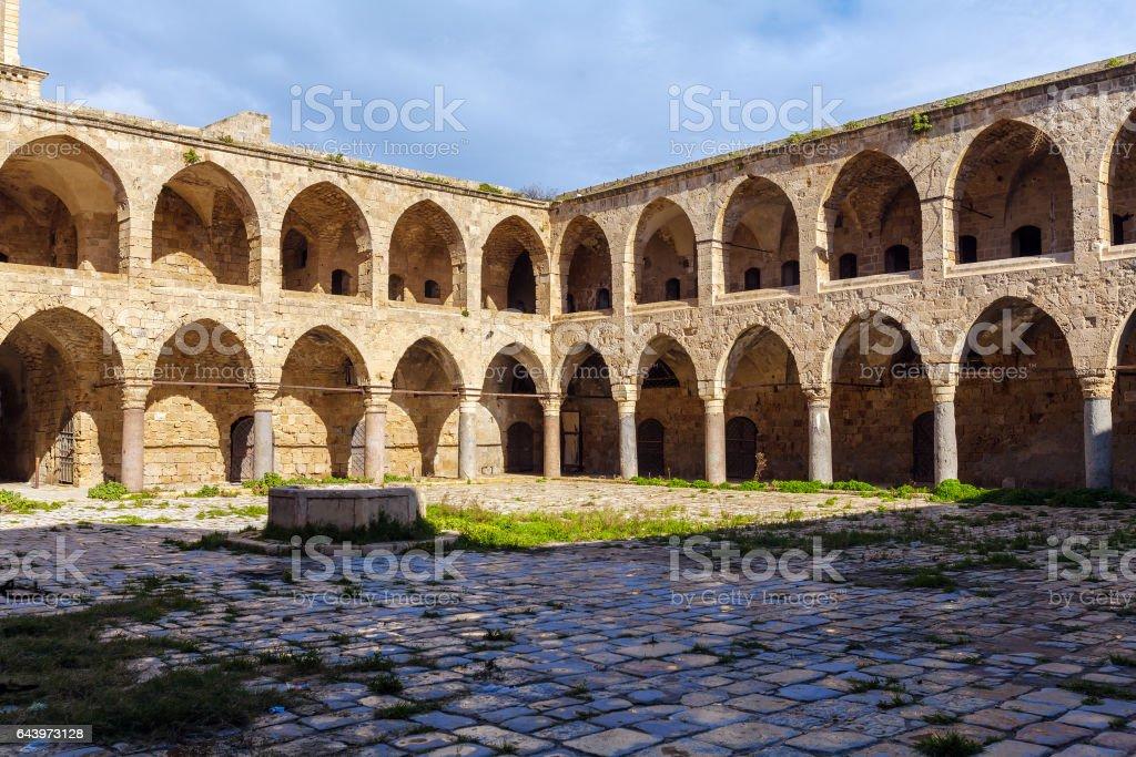 Khan al-Umdan Gallery, Acre stock photo